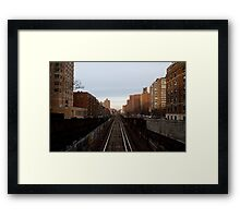 Broadway and 122nd Street Framed Print