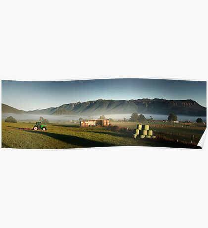 Mole Ck Misty Morning Poster