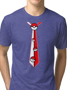Pokeballs Tie Tee Tri-blend T-Shirt