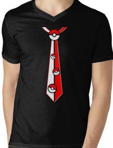 Pokeballs Tie Tee Mens V-Neck T-Shirt