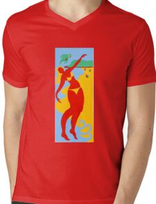 Gold Coast Bikini Girl  Mens V-Neck T-Shirt