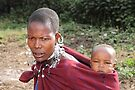 Maasai (or Masai) Mother with Baby, East Africa   by Carole-Anne