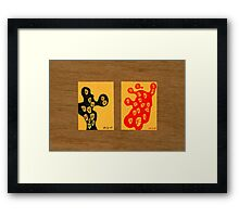 Tiny Diary: Where to? Framed Print
