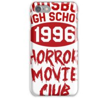 Woodsboro High Horror Movie Club 1996 iPhone Case/Skin