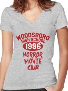 Woodsboro High Horror Movie Club 1996 Women's Fitted V-Neck T-Shirt