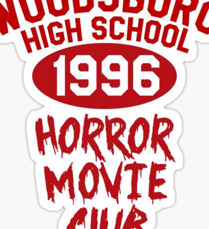 Woodsboro High Horror Movie Club 1996 Sticker