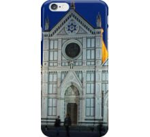 Blue Hour - Santa Croce Church in Florence, Italy iPhone Case/Skin