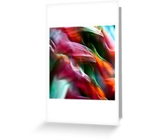 Heliconia swirls #02 Greeting Card