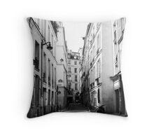 Paris Street Scene Throw Pillow