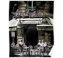 Paris Cafe - coffee culture in Paris street scene Poster