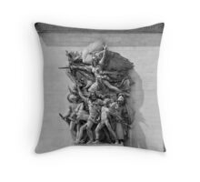 Arc de Triomphe carvings Throw Pillow