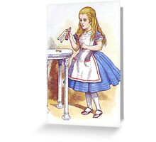 Alice and the Drink Greeting Card