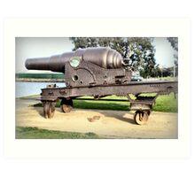 Fortress Gun -1867 - The Strand, Williamstown, Vic Art Print