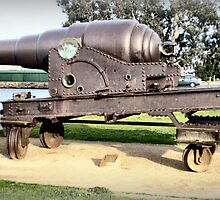 Fortress Gun -1867 - The Strand, Williamstown, Vic by EdsMum