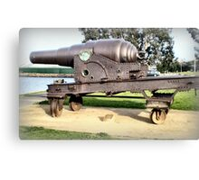 Fortress Gun -1867 - The Strand, Williamstown, Vic Canvas Print
