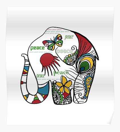 Peace Elephant Poster