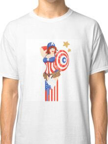 Captain America Pinup Classic T-Shirt