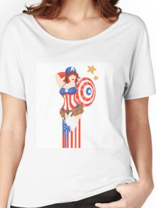 Captain America Pinup Women's Relaxed Fit T-Shirt