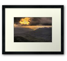 Light in the Valley - Blue Mountains World Heritage Area - HDR Experience Framed Print