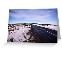 A Winters Road #2 Greeting Card
