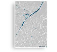 Brussels city map grey colour Canvas Print
