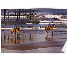 Beach Ride - Saltburn Poster