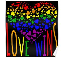 Love Wins, Marriage Equality T-Shirt design. Poster