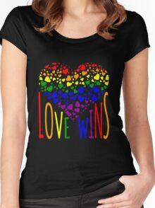Love Wins, Marriage Equality T-Shirt design. Women's Fitted Scoop T-Shirt
