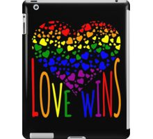Love Wins, Marriage Equality T-Shirt design. iPad Case/Skin