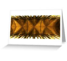 Truro Cathedral Ceiling Greeting Card