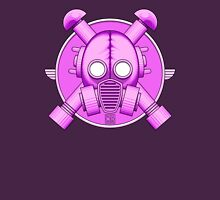 Art Deco Lilac Gasmask Womens Fitted T-Shirt
