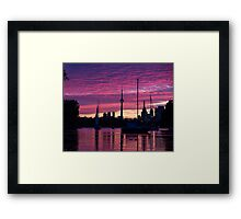 Toronto Skyline - the Boats Are Coming In Framed Print