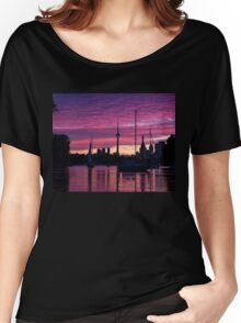 Toronto Skyline - the Boats Are Coming In Women's Relaxed Fit T-Shirt