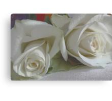 Romantic white Canvas Print