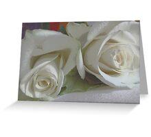 Romantic white Greeting Card