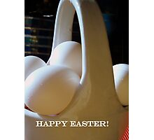 Monochrome Easter Basket Photographic Print