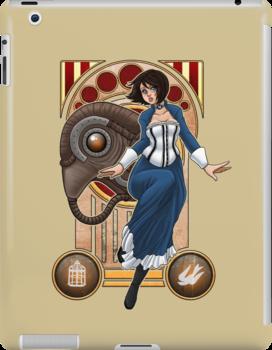 Bioshock Infinite - Elizabeth and Songbird Nouveau by Maggie Davidson