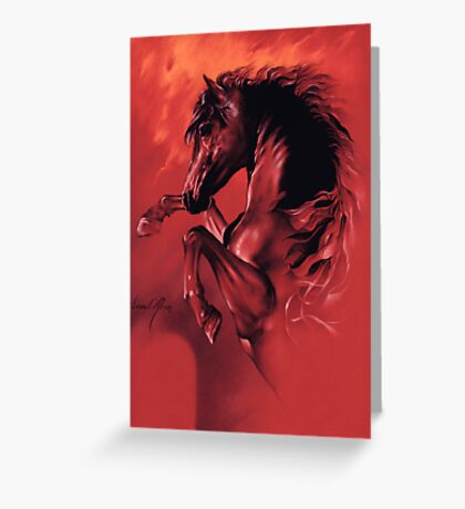 """""""Red Fury"""" Greeting Card"""