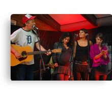Dan Warner and the Wolfgramm Sisters Canvas Print