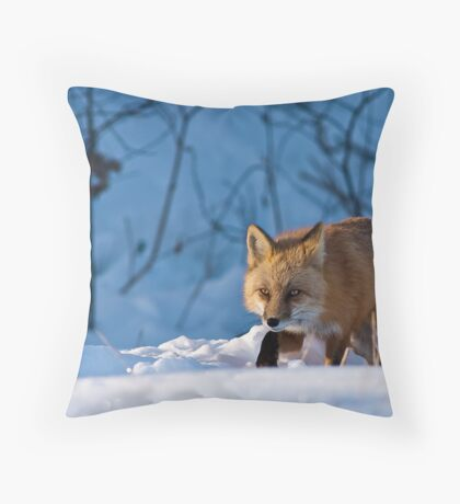 Trotting By Throw Pillow