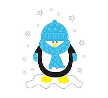 Baby It's Cold Outside [Boy Penguin] Photographic Print