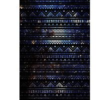 Aztec Black Galaxy Blue Photographic Print