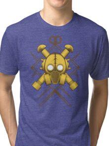Tribal Gold Gasmask Tri-blend T-Shirt