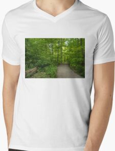 Summer Forest Walk Mens V-Neck T-Shirt