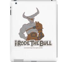 Riding the Bull iPad Case/Skin