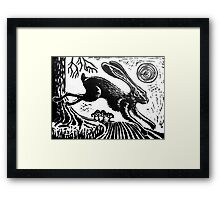 Hare...Linoprint Framed Print