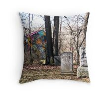 Country Cemetery With A Difference, Boston, NY Throw Pillow