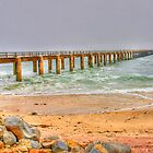 Wooden Jetty in Walfishbay, Namibia by Rudi Venter