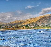 Gordonsbay from the Atlantic ocean by Rudi Venter