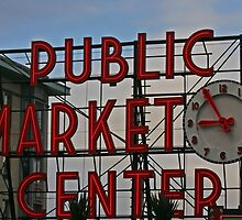 Pike Place Market entrance sign by Carlanne McCrystal